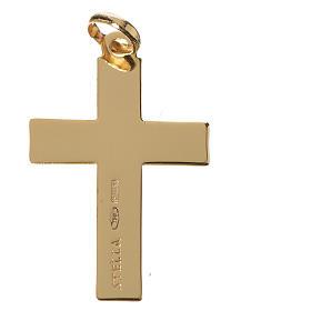 Cruz clásica colgante oro 750/00 - gr. 1,10 s2