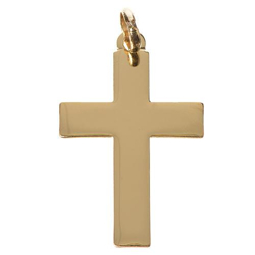 Cruz clásica colgante oro 750/00 - gr. 1,10 1