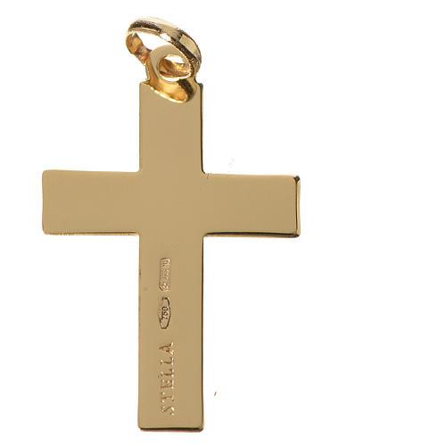 Cruz clásica colgante oro 750/00 - gr. 1,10 2