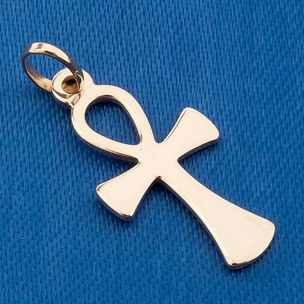 Croce della vita pendente oro 750/00 - gr 1,10 4