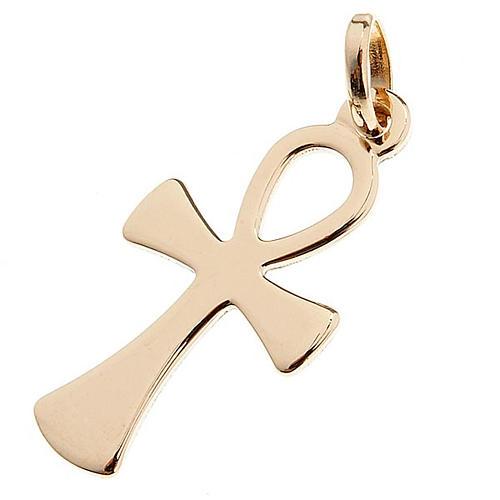 Croce della vita pendente oro 750/00 - gr 1,10 1