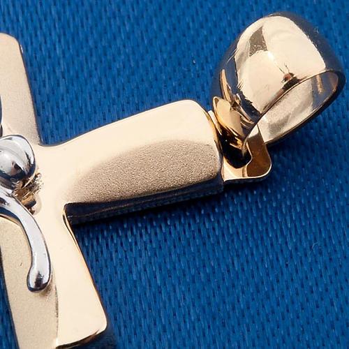 Cruz colgante oro 750/00 - gr, 3,44 3