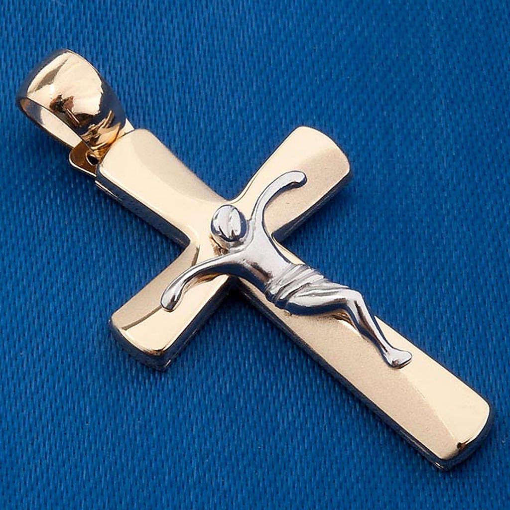 Crocifisso pendente oro 750/00 - gr. 3,44 4