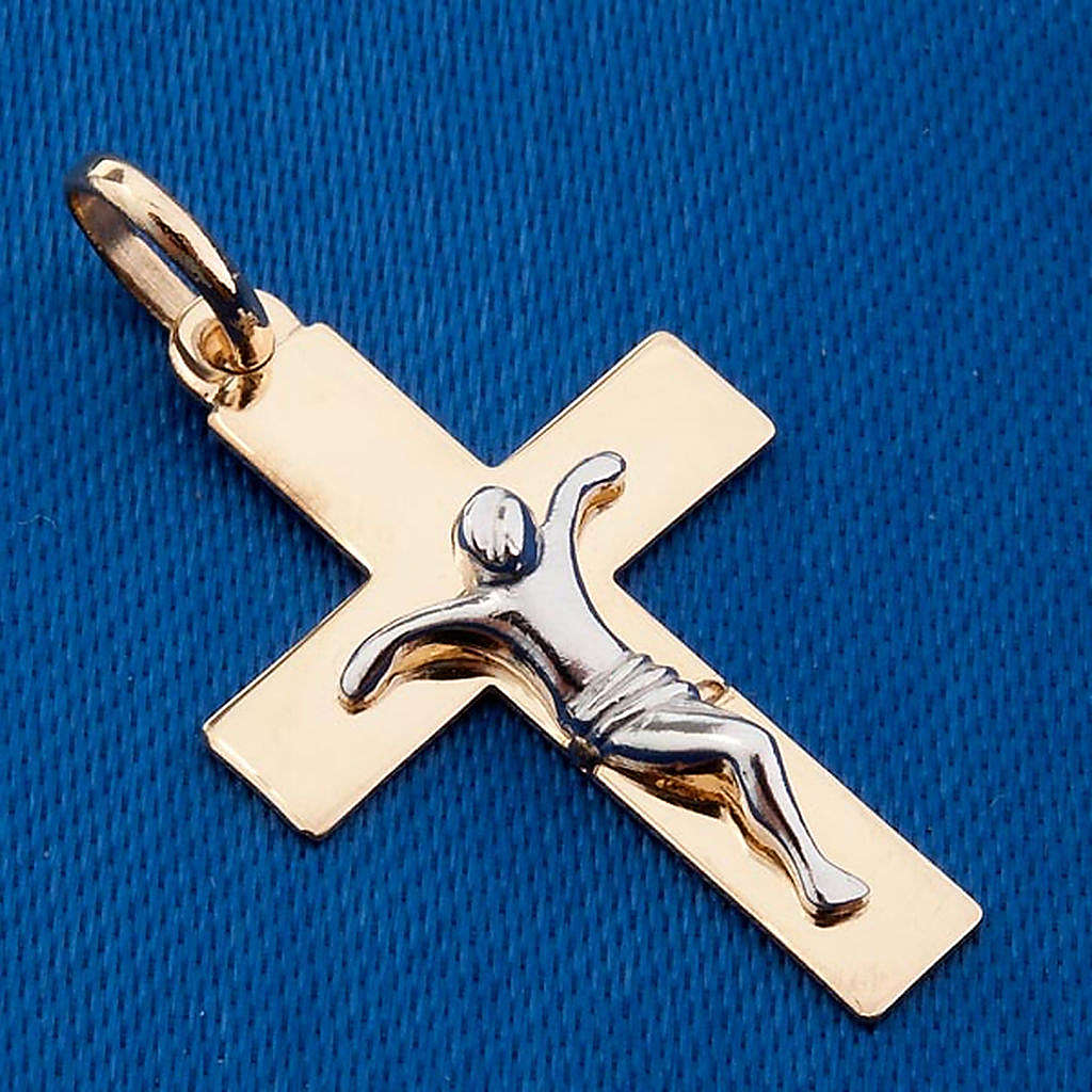 Gold crucifix pendant - 1,50 gr 4