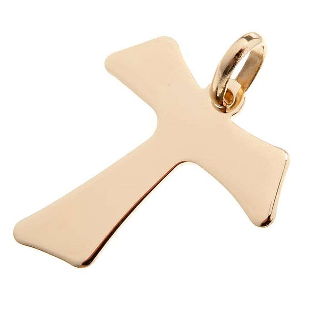 Tau croce pendente oro 750/00 - gr. 2,00 4