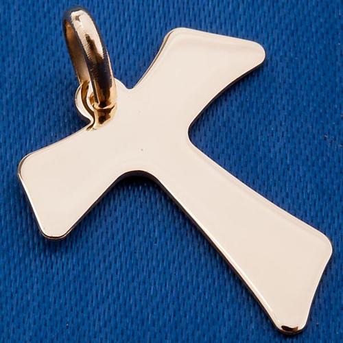 Tau croce pendente oro 750/00 - gr. 2,00 3