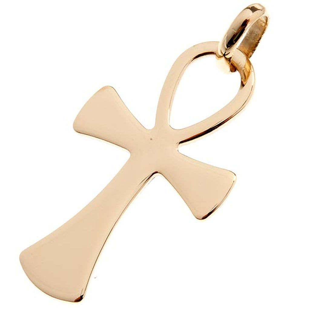 Cruz de la vida colgante de oro 750/00 - gr. 2,00 4