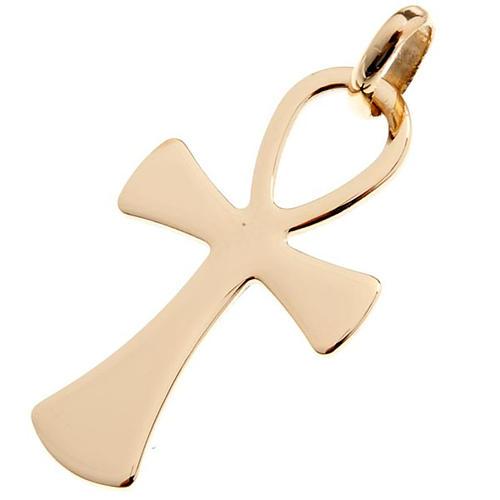 Cruz de la vida colgante de oro 750/00 - gr. 2,00 1