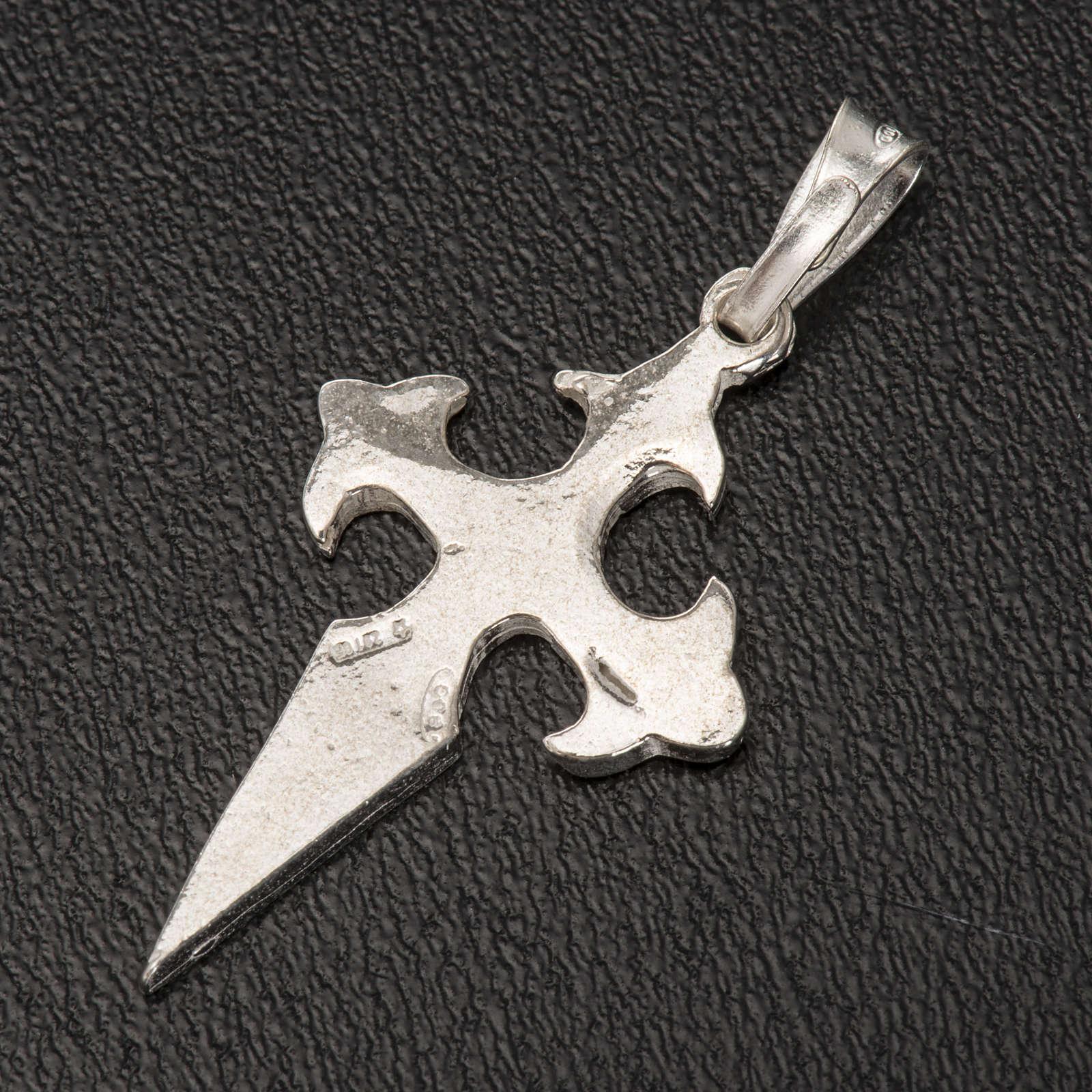 Pendete croce San Giacomo di Compostela Arg 800 4