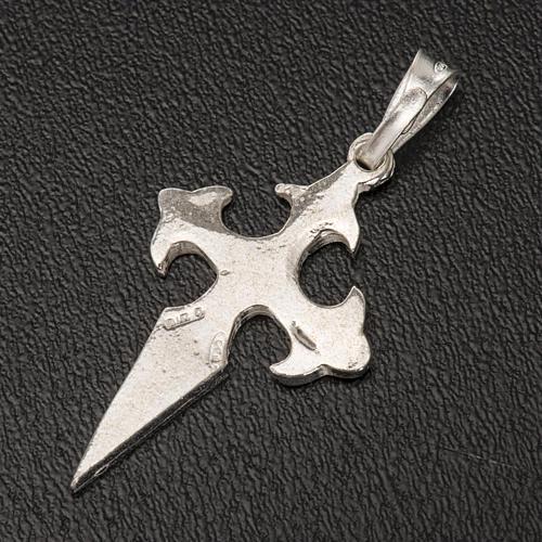 Pendete croce San Giacomo di Compostela Arg 800 5