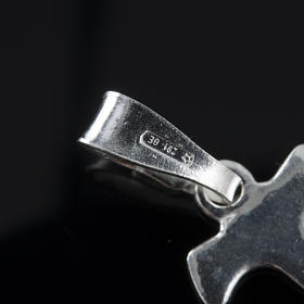 Santiago de Compostela Cross in silver 800 s7