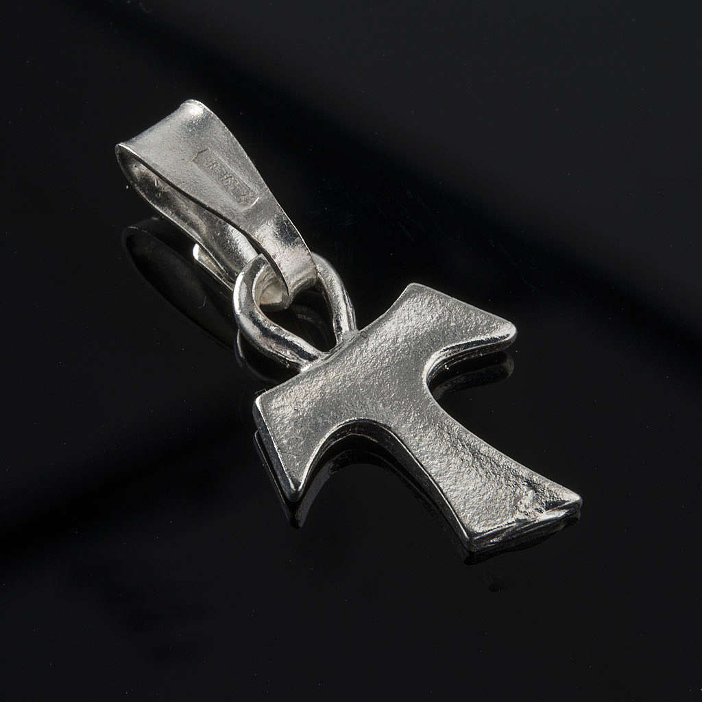 Tau cross in silver 925. 1,2 x 1 cm 4