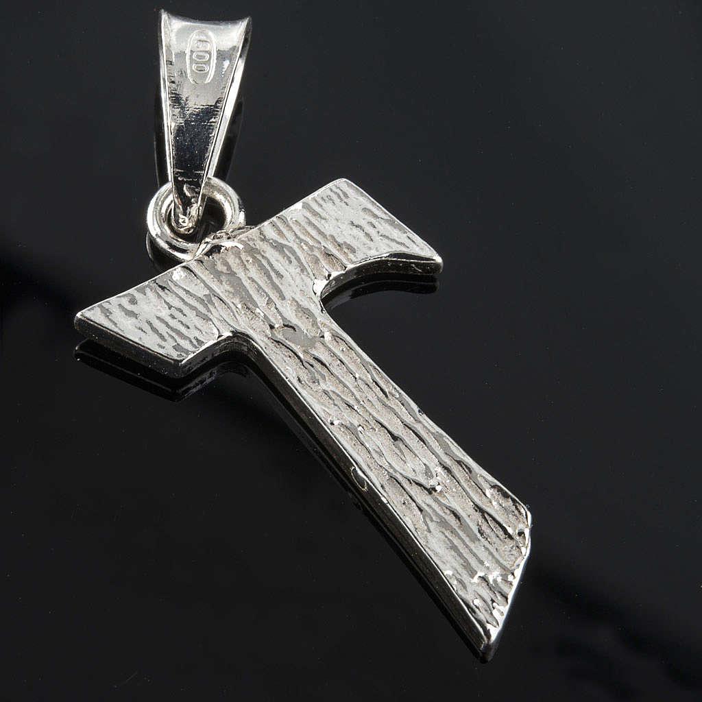 Tau pingente prata 925 2x1,2 cm 4