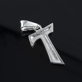 Tau pingente prata 925 2x1,2 cm s3