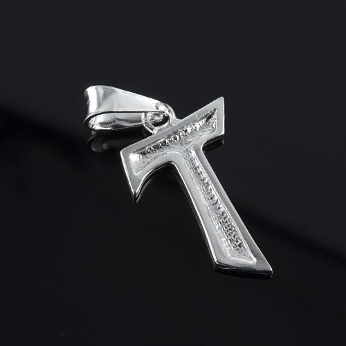 Tau pingente prata 925 2x1,2 cm 3