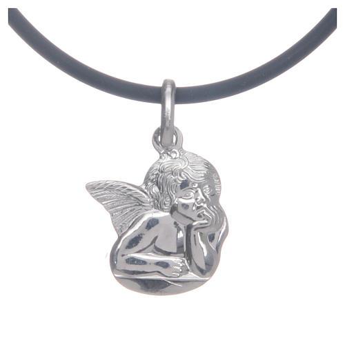 Collier avec Ange de Raffaello en argent 925 1