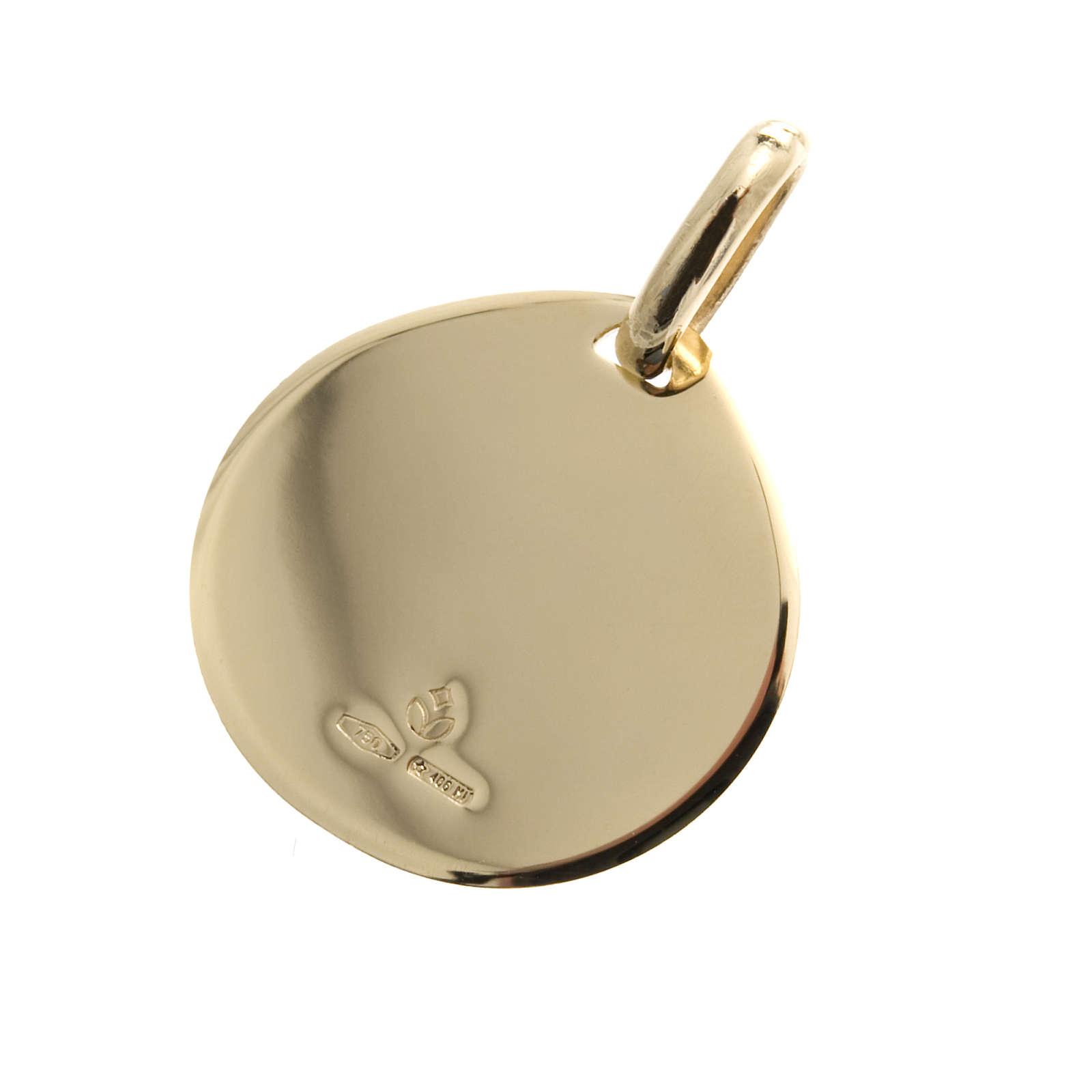 Medaglietta oro 750 Battesimo - gr. 1,70 4