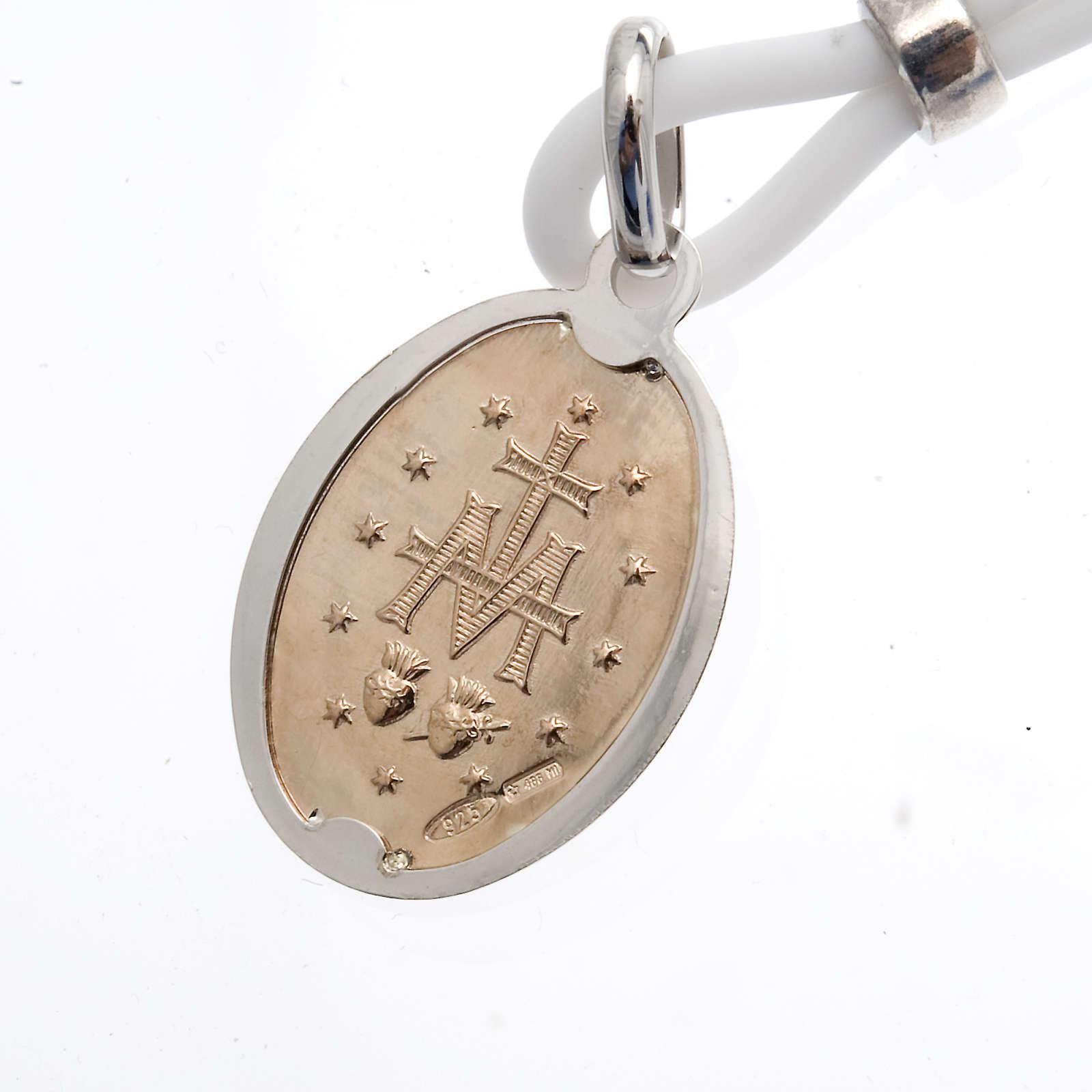 Collar medalla Milagrosa Plata 925 4