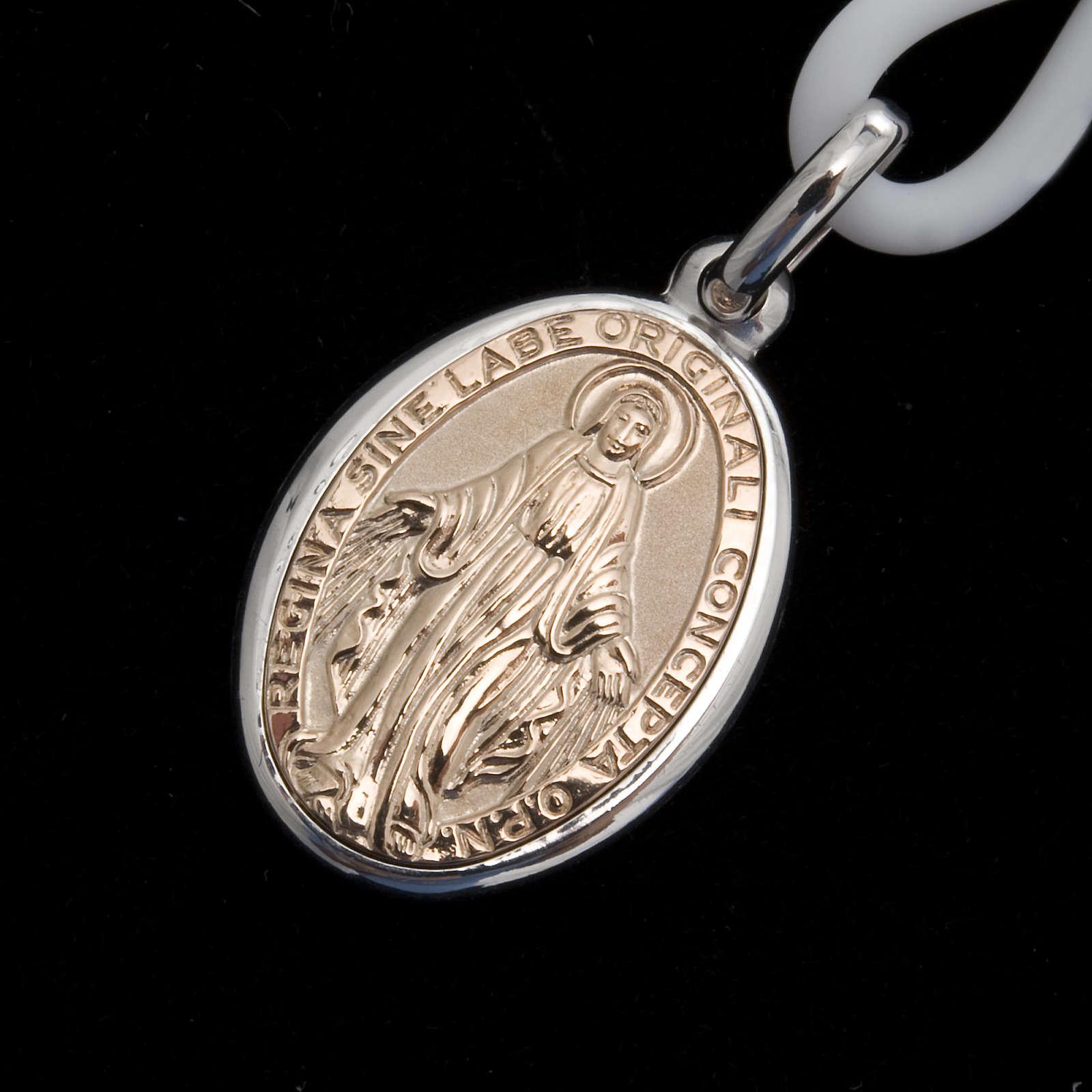 Collana Medaglia Miracolosa Argento 925 4