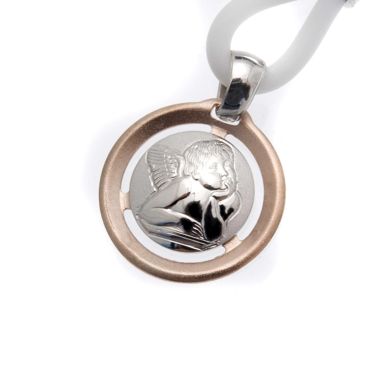 Collana Medaglia con Angelo Argento 925 4