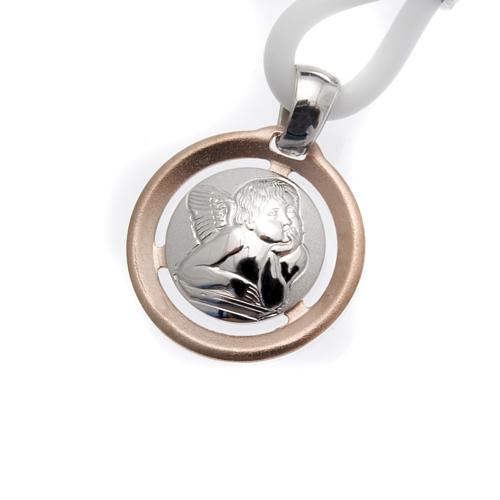 Collana Medaglia con Angelo Argento 925 1