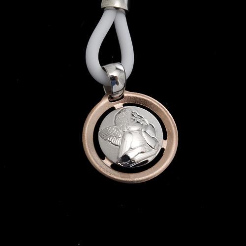 Collana Medaglia con Angelo Argento 925 2