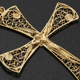 Cross pendant, gold-bathed 800 silver, 5,47g s4
