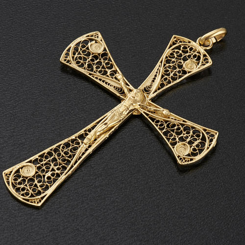Cross pendant, gold-bathed 800 silver, 5,47g 3