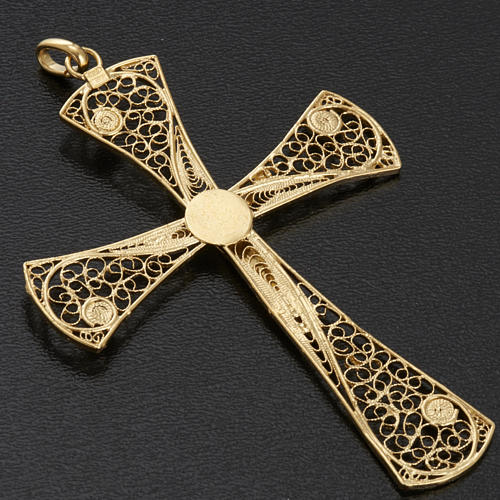 Cross pendant, gold-bathed 800 silver, 5,47g 8