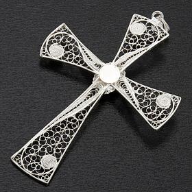 Croix pendentif lapis-lazuli filigrane d'argent 800 5,47gr s7