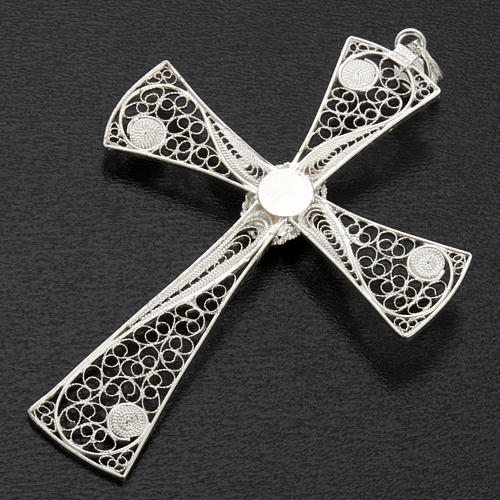 Croix pendentif lapis-lazuli filigrane d'argent 800 5,47gr 7