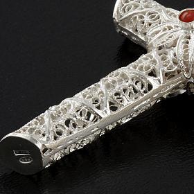 Cross pendant, 800 silver, coral 10,2g s5