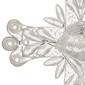 Croix pendentif décors filigrane argent 32,9 gr s3