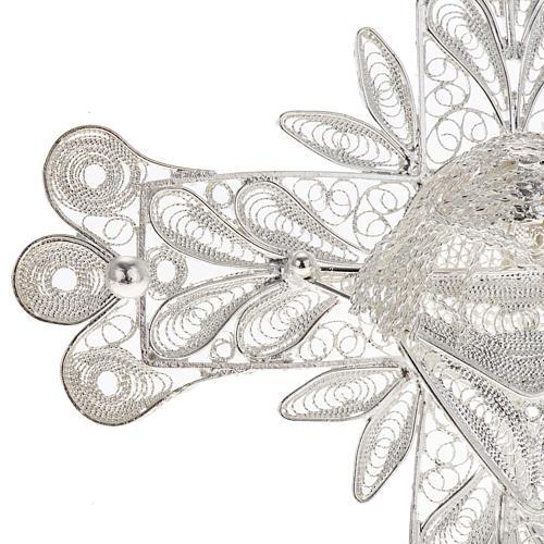 Croix pendentif décors filigrane argent 32,9 gr 3
