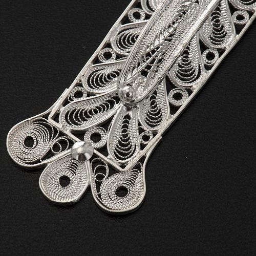 Croix pendentif décors filigrane argent 32,9 gr 7