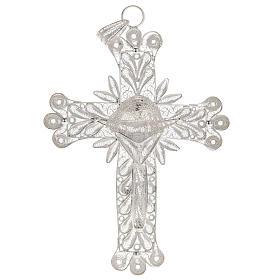 Croce pendente decori filigrana arg. 800 - gr. 32,9 s1