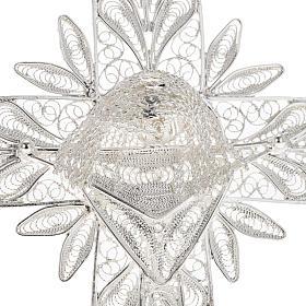 Cross pendant, 800 silver, flower decorations 32,9g s2