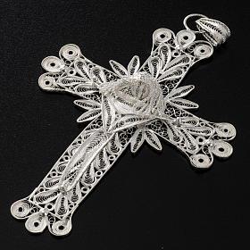 Cross pendant, 800 silver, flower decorations 32,9g s4