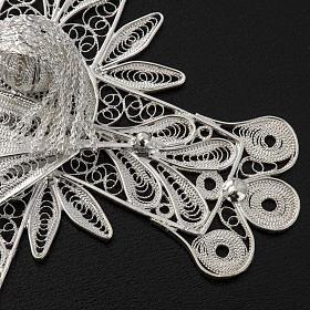 Cross pendant, 800 silver, flower decorations 32,9g s5