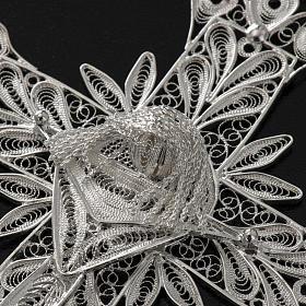 Cross pendant, 800 silver, flower decorations 32,9g s6