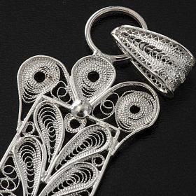 Cross pendant, 800 silver, flower decorations 32,9g s8