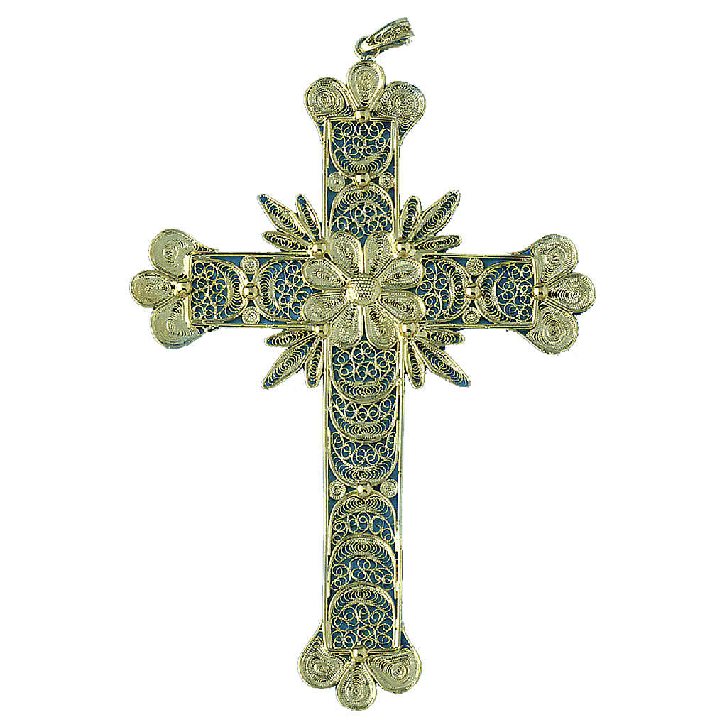 Cross pendant, 800 silver, flower decorations 20,1g 4