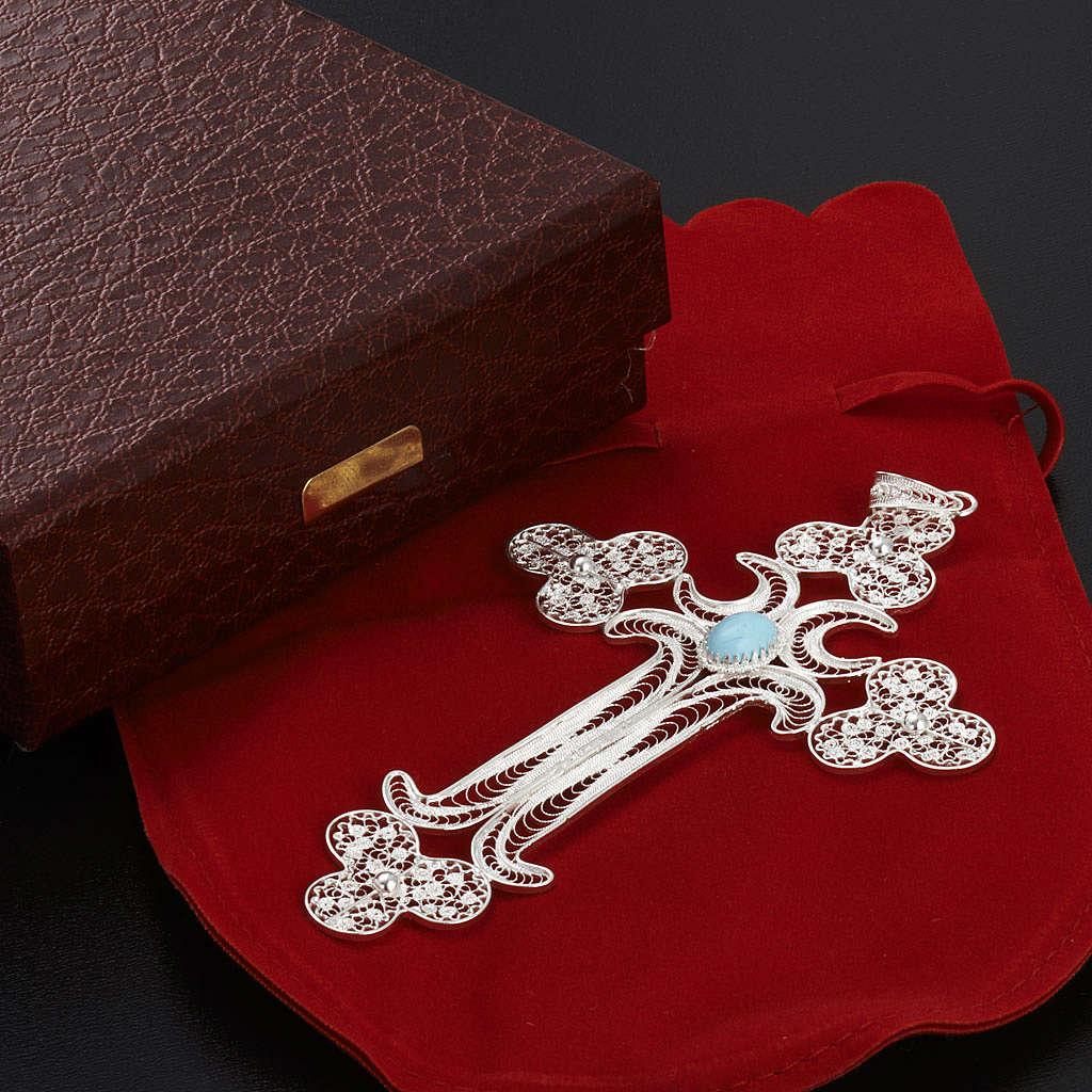 Pendentif croix filigrane argent 12,7 gr 4
