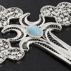 Pendente croce filigr. argento 800 - gr. 12.7 s3