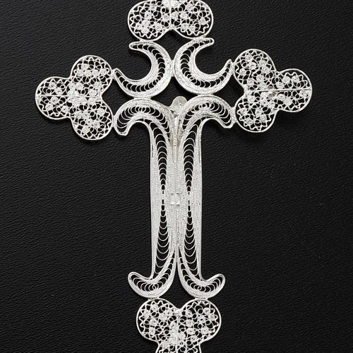 Pendentif croix filigrane argent 12,7 gr 7