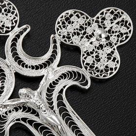 Pendente croce filigr. argento 800 - gr. 12.7 s5
