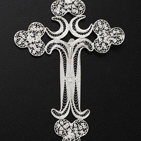 Pendente croce filigr. argento 800 - gr. 12.7 s7