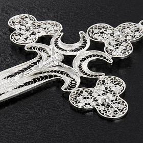 Pendente croce filigr. argento 800 - gr. 12.7 s9