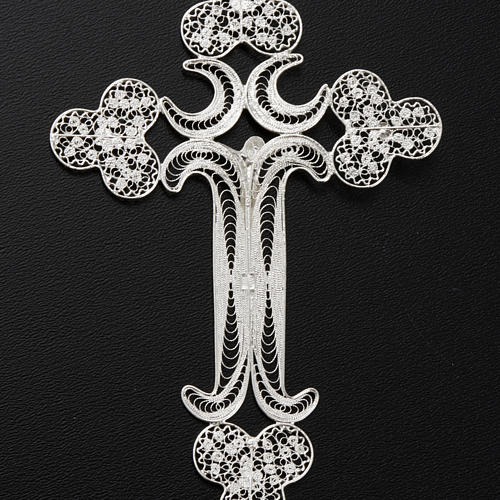 Pendente croce filigr. argento 800 - gr. 12.7 7