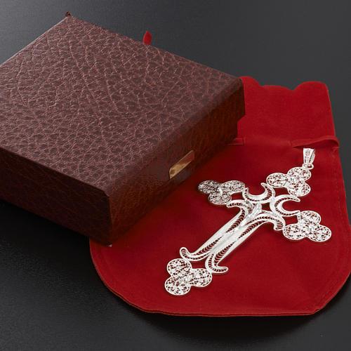 Pendente croce filigr. argento 800 - gr. 12.7 10
